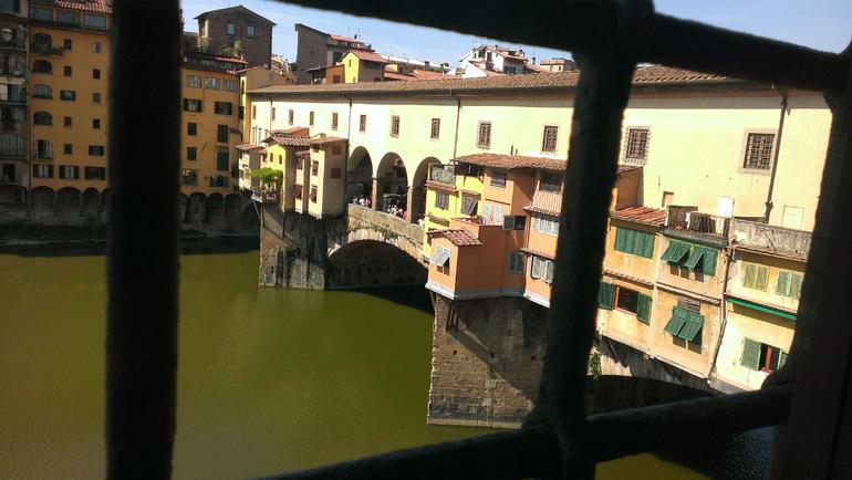 Ponte Vecchio from the Varsari Corridor - Florence