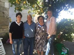 Meet Yolanda, Mario, Rosetta and Klaudia. Mario and Rosetta own the lemon and olive garden. Yolanda works with them, making Lemoncello and Klaudia was our guide who kept things interesting with ... , Gita P - July 2016