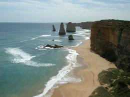 Twelve Apostles rock formations along the coast, MIRAN S - November 2008