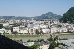 View over Salzburg from high on the wall where you could have lunch at a little cafe., Marion C - July 2010