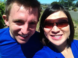 Hello from wine country!, Jules & Brock - July 2012