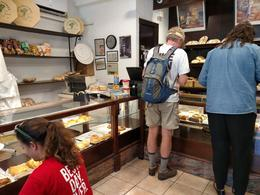 Part of the group selecting lunch items at the local bakery , travels - October 2017