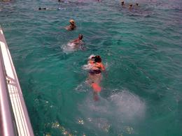 My sister and I swimming , Alfredo M - July 2014
