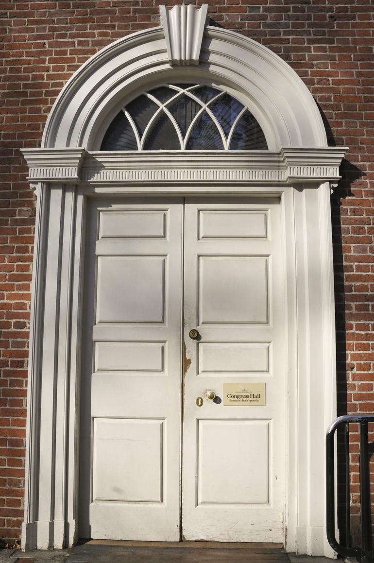 Doorway to Congress Hall - New York City