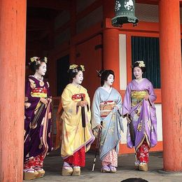 Four beautiful Geisha at the Heian Shrine. , Benjamin P - May 2015