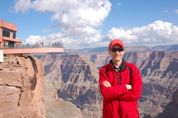 Mr J.S near skywalk - west rim of Grand Canyon , Jerzy S - November 2015