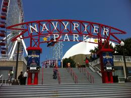 Navy Pier-lots of restaurants and shops. Take a ride on the Ferris wheel-great view! , Kim C - July 2011