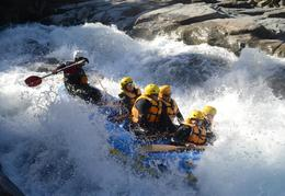 Going through one of the rapids on the white water rafting , Aviad M - March 2014