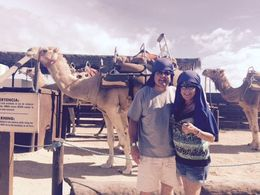 Complete with desert like gear as well as the handlers of the camels looked like Boudins. , Jeffrey Dana L - December 2015