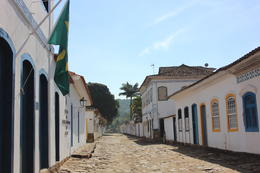 Cobblestone street in Paraty - not the easiest to walk on!, Bandit - July 2014