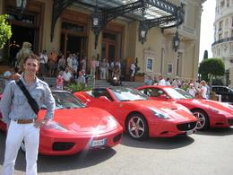 Entrance into The Grand Casino in Monte Carlo. There are a lot of exotic cars parked in front (here are 3 different Ferrari)., Dmitriy M - September 2009