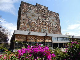 The library on the campus of the University of Mexico in Mexico City. , Kevin F - May 2013