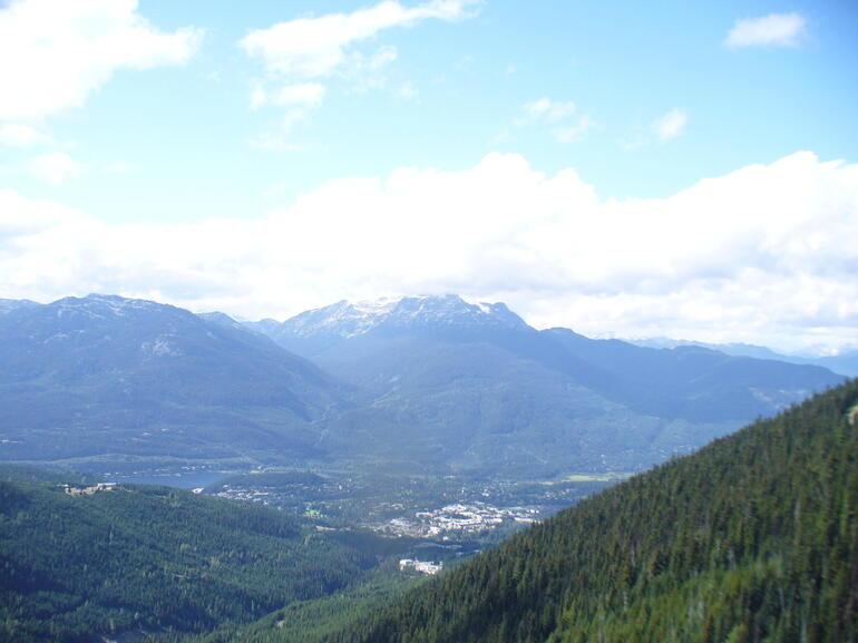 View from Peak to Peak Gondola - Vancouver