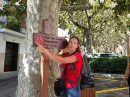 Our guide, Marialaura, showing us the sign for the route we would be taking , travels - October 2017