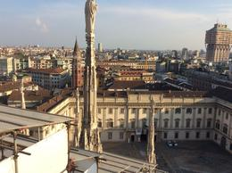 The Duomo museum and Milan skyline , Charles L - September 2016