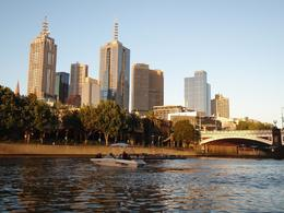 Here's beautiful Melbourne from the boat just as we set off., Garry M - February 2009