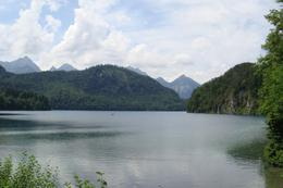 Serene lake in the little town at the bottom of the road up to Neuschwanstein Castle., Marion C - July 2010