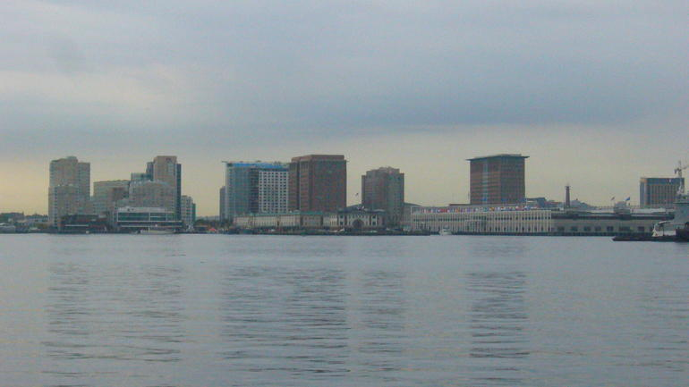 Boston Skyline across the Harbor - Boston