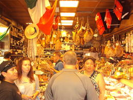 A Roman gourmet food store - I forgot the name. A wonderful small store full of hard to find foods (and free samples). , LESLIE W - June 2012