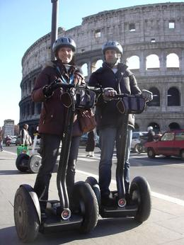 Birgit and Thomas in front ofv the Colosseum, Thomas N - December 2009