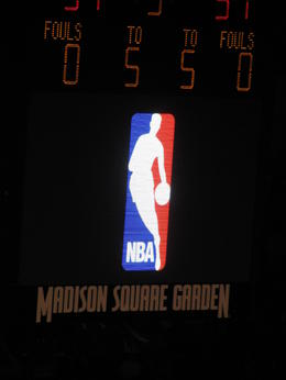 Madison Square Garden..... NBA rocks... , Justin W - March 2011