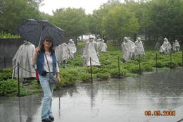 The statues made of steel, the sight is touching, still raining!, Gabriela D - October 2008