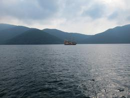 View of pirate ship on Lake Ashi - August 2010