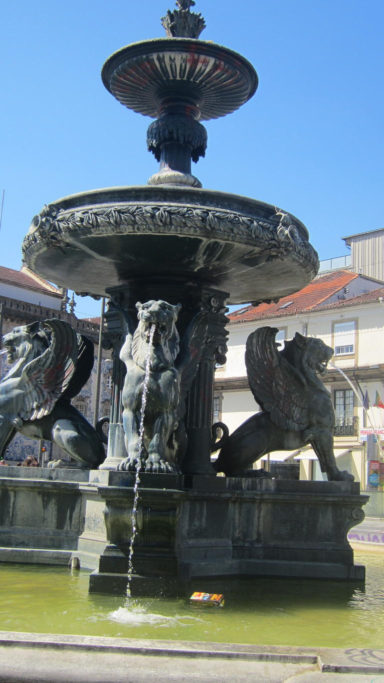 Lion Square, or Gomes Teixeira Square. The meeting point - Porto
