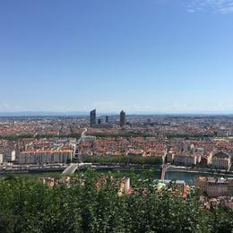Lyon from Fourvière , Afsaneh B - August 2016