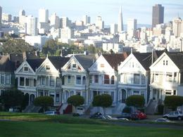 The 'painted ladies', a view from the bus, one of the homes is the one that was in the show Full House., Brooke W - April 2009