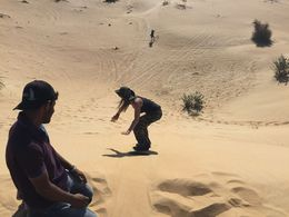 Sand boarding down the hill , melissasal - April 2015