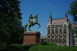 This statue is in the garden in front of the Parliament building., Elmarie Magda D - August 2010