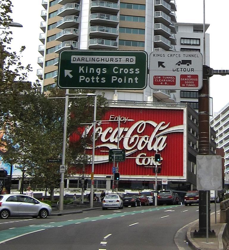 The famous Coke Sign - Sydney