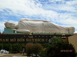 The sleeping Buddha at the Buddhist Temple , Mitch - July 2016