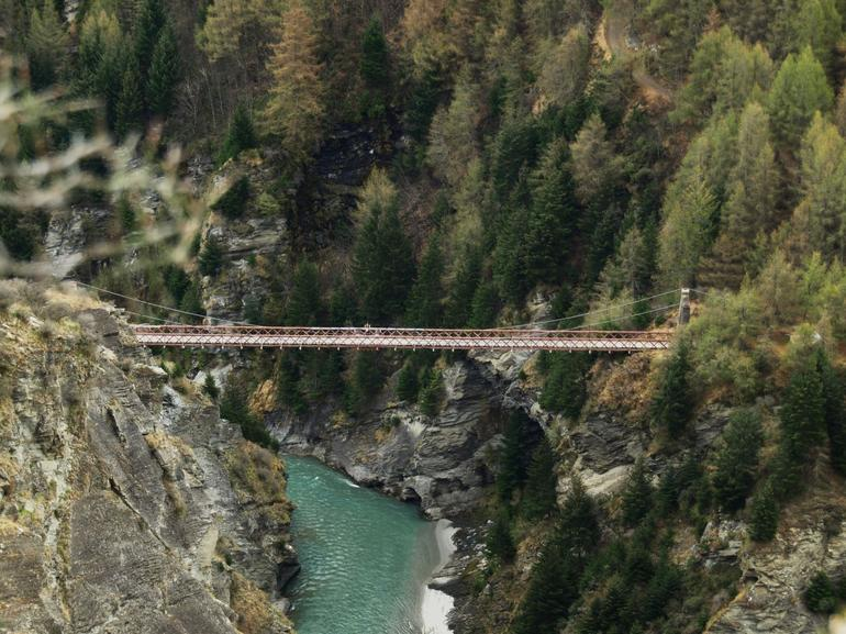 The Suspension Bridge at Skippers Canyon - Queenstown