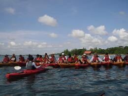 Training before heading to the mangroves - May 2012