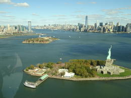 View of Liberty Island and Manhattan , CHWI HONG T - October 2014