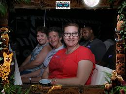 Patricia, Allison and Janet on the Night Safari tram , PATRICIA D - October 2016
