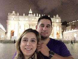 With my Hubby outside the impressive St.Peter's Basilica. , alberto c - November 2016