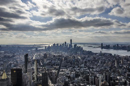View from Empire State building observatory , Aistė V - December 2016