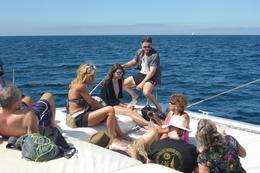 General partying aboard catamaran on Banderas Bay , Carol R - March 2017