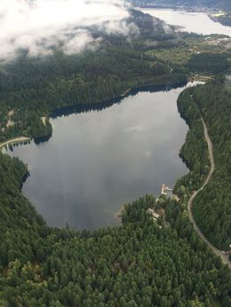Flew over this beautiful lake located northeast of Vancouver, Katiemo - October 2015