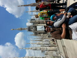 My wife and son at the top of the Duomo church , tito - June 2014