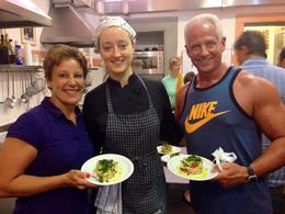 My wife and I in our Florence cooking class! This was one of the highlights of our Italy trip! , Todd C - September 2014