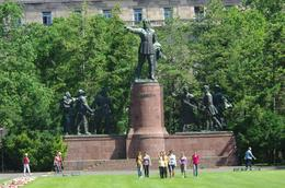 Statue of Kossuth. These statues stand in the park just outside the entrance gate of the Parliament building. Really a nice place just to sit and relax. In front of the statue is some youngsters who ... , Elmarie Magda D - August 2010