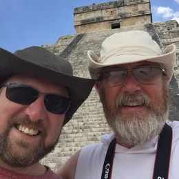 in front of the Temple of Kukulcan , Christopher - May 2016
