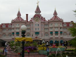 The ticket entrance...very pretty and very different from Disneyland Anaheim. , sweetchild - October 2012