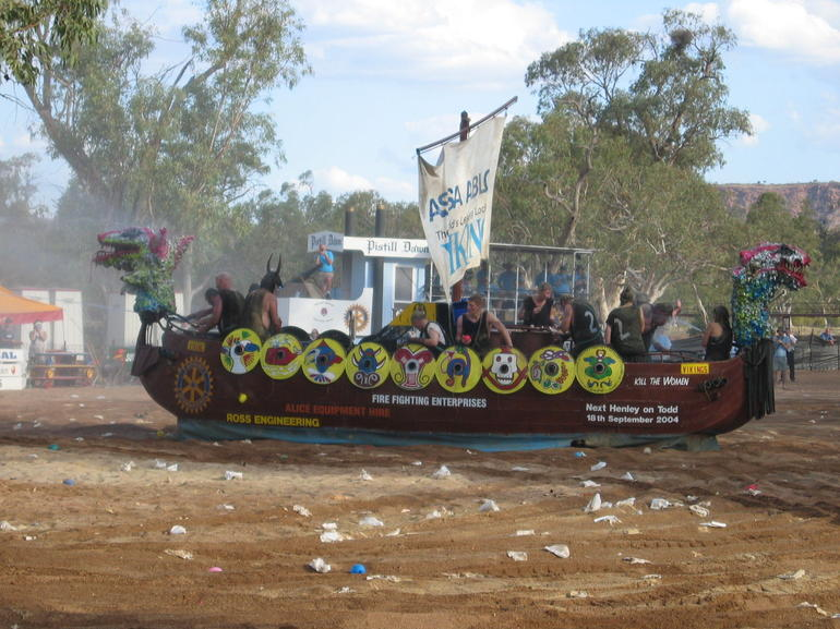Henley-on-Todd Viking Ship - Alice Springs