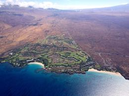 Birds-eye view of resorts along the kohala coast, Ginjabread - September 2013