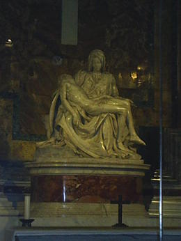 Inside St Peter's Basilica. Michelangelo was only 24 when he completed pieta , moocake2121 - August 2014